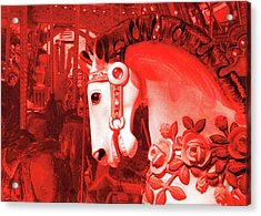 Crimson Carousel Acrylic Print by JAMART Photography