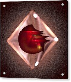 Crimson Heart Acrylic Print by Viktor Savchenko