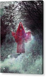 Crimson Prophetess Acrylic Print