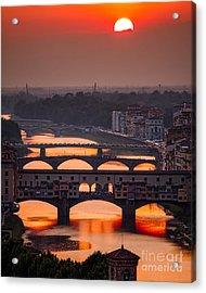 Crimson River Acrylic Print