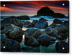 Crimson Skies Acrylic Print by Rick Berk