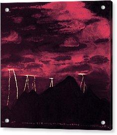 Crimson Storm Acrylic Print by Dawn Hay