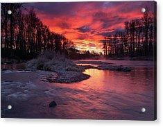 Sage Island Sunrise Acrylic Print