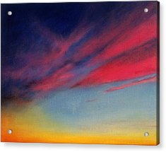 Crimson Sunset II Acrylic Print by Ruth Sharton