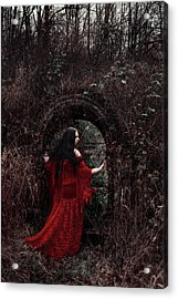 Crimson Witch Acrylic Print by Cambion Art