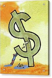 Crisis And Money Acrylic Print