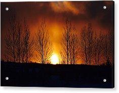Crisp Sunset Acrylic Print by Dacia Doroff
