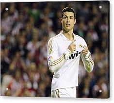 Cristiano Ronaldo 4 Acrylic Print by Rafa Rivas