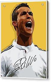 Cristiano Ronaldo Cr7 Acrylic Print by Semih Yurdabak