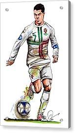 Cristiano Ronaldo Acrylic Print by Dave Olsen