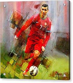 Cristiano Ronaldo  Acrylic Print by Gull G
