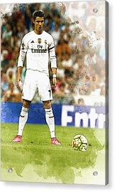 Cristiano Ronaldo Reacts Acrylic Print