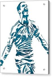 Cristiano Ronaldo Real Madrid Pixel Art 4 Acrylic Print