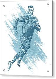 Cristiano Ronaldo Real Madrid Water Color Art 1 Acrylic Print