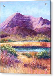 Cristo Rey In Autumn Acrylic Print by Candy Mayer