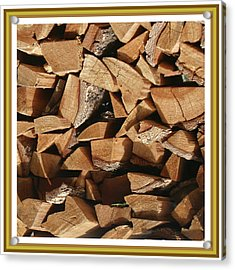 Acrylic Print featuring the photograph Cutie Critter In The Wood Pile by Jack Pumphrey