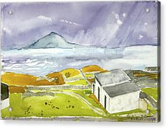 Croagh Patrick And Purple Sky Acrylic Print