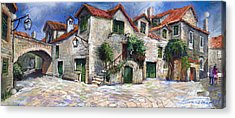 Croatia Dalmacia Square Acrylic Print by Yuriy  Shevchuk