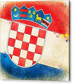 Croatia Flag Acrylic Print