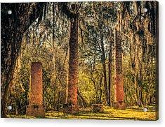 Crocheron Columns Old Cahawba Acrylic Print by Phillip Burrow