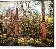 Crocheron Columns Acrylic Print by Phillip Burrow