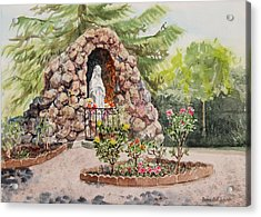 Crockett California Saint Rose Of Lima Church Grotto Acrylic Print