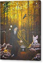 Crone Goddess Keridwen - Samhain Acrylic Print