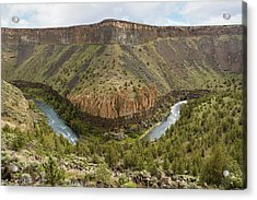 Crooked River Gorge Acrylic Print by Joe Hudspeth