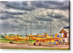 Crop Duster 003 Acrylic Print by Barry Jones