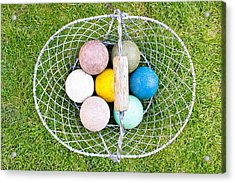 Croquet Balls Acrylic Print