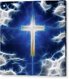 Cross Abstract Acrylic Print by Bruce Rolff