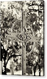 Cross At Dublin Pioneer Cemetery Acrylic Print by Troy Montemayor