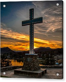 Cross At Lake Junaluska Acrylic Print