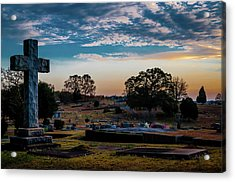 Cross At Sunset Acrylic Print