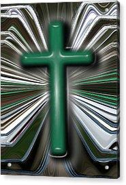 Cross Blast Acrylic Print by Joshua Sunday