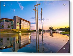 Cross Church Sunset - Bentonville - Rogers Arkansas Acrylic Print