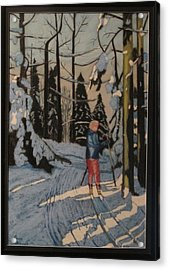 Cross Country Skiing In Upstate Ny Acrylic Print