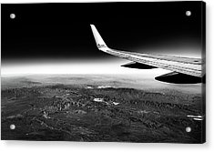 Cross Country Via Outer Space Acrylic Print
