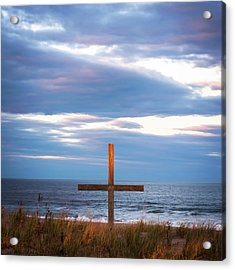 Cross Light Square Acrylic Print by Terry DeLuco