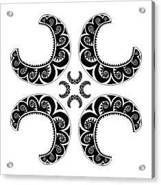 Cross Maori Style Acrylic Print