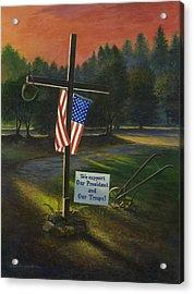 Cross Of Remembrance Acrylic Print