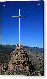 Cross On Fremont Peak Acrylic Print