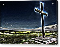 Cross On The Hill Acrylic Print by Douglas Barnard