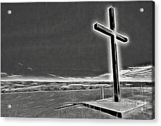 Cross On The Hill V2 Acrylic Print by Douglas Barnard