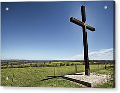 Cross On The Hill V3 Acrylic Print by Douglas Barnard