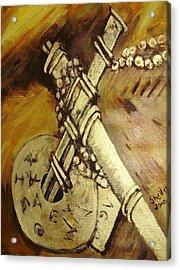 Cross Acrylic Print by Shelley Bain