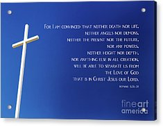 Cross With Blue Sky Acrylic Print