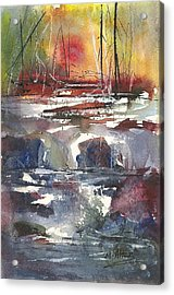 Crosscurrents Acrylic Print by Madelaine Alter