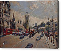 Crossing At Westminster Acrylic Print