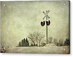 Crossing Over Acrylic Print by Evelina Kremsdorf